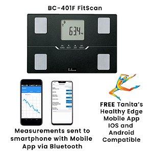 Balança de Bioimpedância Tanita BC-401F BlueTooth Monitor de Composição Corporal Travel Kit