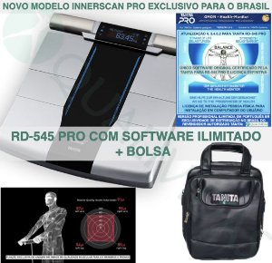 TANITA OFICIAL Balança de Bioimpedância Tanita RD-545 Pro com Software Profissional Ilimitado em Português Tanita Pro Gmon Health e bolsa