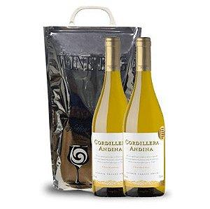 Pack Cordillera Andinda Chardonnay + Winebag