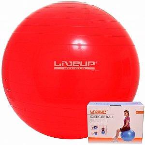 Bola Suíça 45 Cm C/ Bomba Live Up - Yoga Pilates Fitness