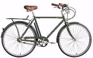 Bicicleta Novello Milano Vintage Bike Retrô Farol Bagageiro - Verde