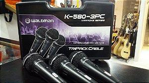 Kit Microfones Waldman K-580 3PC