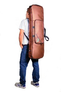 Bag Teclado Compacto 7/8 Couro Reconstituído Marrom newkeepers