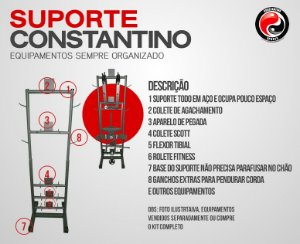 SUPORTE PARA EQUIPAMENTOS DE ACADEMIA