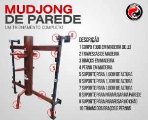 MUDJONG DE PAREDE WING CHUN PRONTA ENTREGA