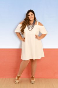 Vestido Ciganinha Off White
