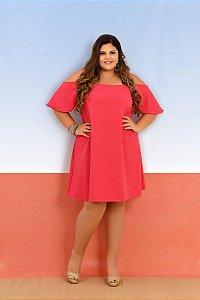 Vestido Plus Size Ciganinha Rosa