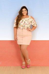 Saia Plus Size Curta Candy