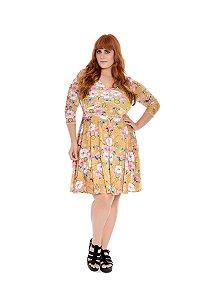 Vestido Plus Size Godê Floral