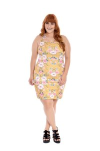 Vestido Plus Size Lápis Floral