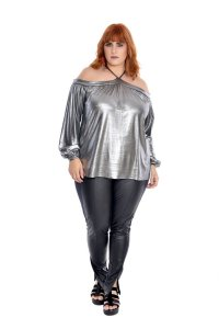 Bata Plus Size Metallic