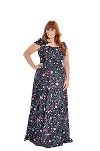 Vestido Plus Size Longo Constelação