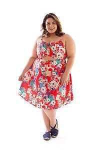 Vestido Plus Size Vazado Santorini