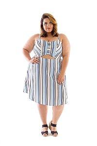 Vestido Plus Size Vazado Marselha