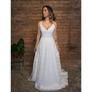 Vestido de Noiva Geo Cotton
