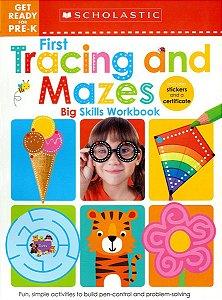 Pre-K Big Skills Workbook: Tracing and Mazes