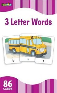 THREE-LETTER WORDS - FLASH KIDS FLASH CARDS