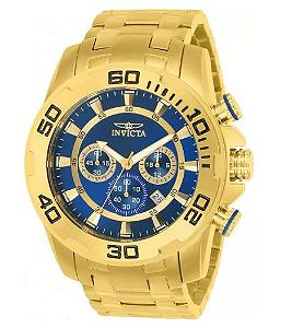 Relógio invicta Dourado Pro Diver 22321 Original