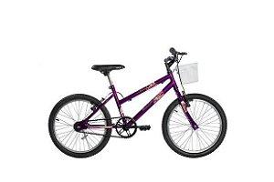 Bicicleta ARO 20 MTB FEM C/ Cestinha