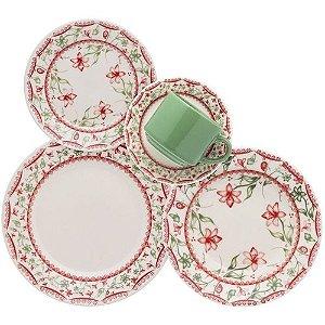 Aparelho De Jantar / Cha Porcelana Vera 20 PÇS