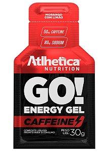 GO! Energy Gel Caffeine Morango com Limão- 1 Sachê de 30g.