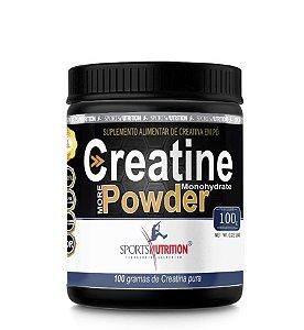 Creatina Monohidratada em Pó - 100g - Sports Nutrition