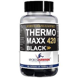 Thermo Maxx Black - 60 tabletes - 420mg de cafeína