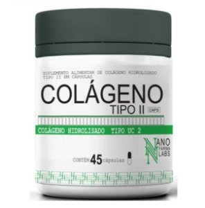 Colágeno Tipo II Nano Farma Labs - 45 Cápsulas