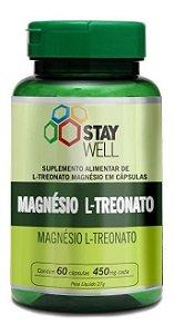 Magnésio L-treonato Puro 60 Cápsulas 450mg Stay Well