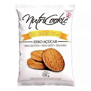 Cookie Zero Açúcar Banana com Canela Nutripleno 120g