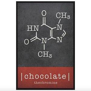 Moléculas Chocolate Quadro 20 cm X 30 cm