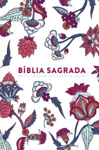 BÍBLIA NVT LG CAPA SOFT TOUCH - INDIAN FLOWERS BRANCA