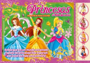 Princesas do reino encantado - Prancheta para colorir
