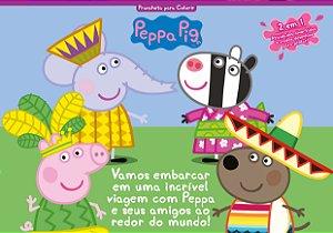 Peppa Pig prancheta para colorir