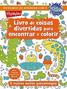 Livro de coisas divertidas para encontrar e colorir