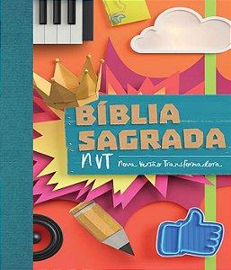 Biblia sagrada nvt - colagem - letra normal/brochura c/ orelhas