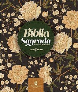 Bíblia Sagrada Nvi, Couro Soft, Flores, Espaço Anotações, Leitura Perfeita