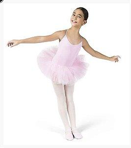 Collant de Ballet Infantil com Alça e Saia de Tule