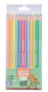 Lápis de Cor Pastel Trend  12 Cores - Leonora