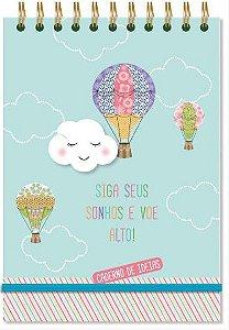 Caderno de Ideias Nuvem e Balão - Fina Ideia