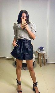 Shorts Couro Ecológico