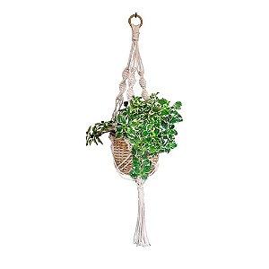 Suporte Para Vaso Decorativo Macrame