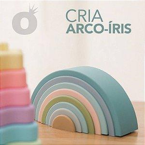 Cria Arco-Íris criativo arcos coloridos Montessori para empilhamento