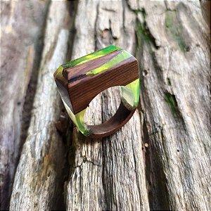Anel Lapidado - Verde