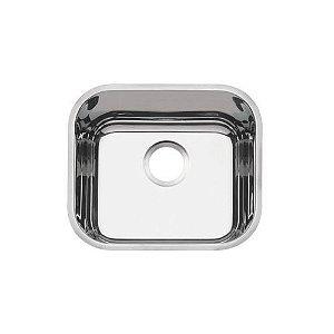 Cuba de embutir Tramontina Lavínia 40 BL em aço inox alto brilho 40x34 cm