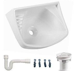 Lavatório Para Banheiro Plastico Pvc 36cmx26cm Astra