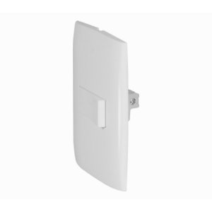Kit 1 Interruptor Simples (EIBK2101) Branco - interruptor simples, com tratamento anti-UV, modular e sem parafusos aparentes.