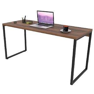 Mesa de Escritório Office 150cm Estilo Industrial Prisma Nogal - Mpozenato