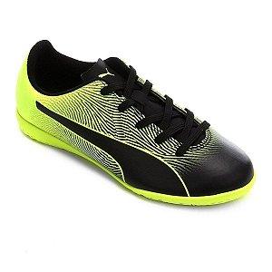 Chuteira Futsal Infantil Puma Spirit II IT Jr Bdp - Preto+Amarelo