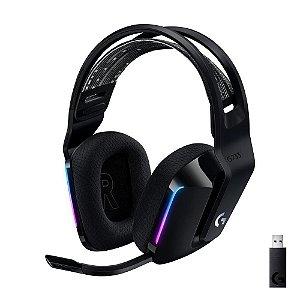 Fone de ouvido gamer sem fio Logitech G Series G733 preto com luz rgb